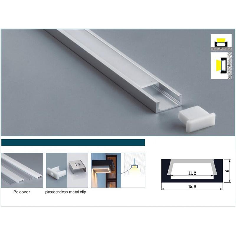 15.9x6x11.2mm Led Aluminum Profile